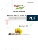 Annual Report 2009 Taj Agro International - Taj Group