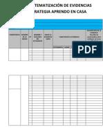 Ficha de Sistematización de Evidencias de La Estrategia Aprendo en Casa