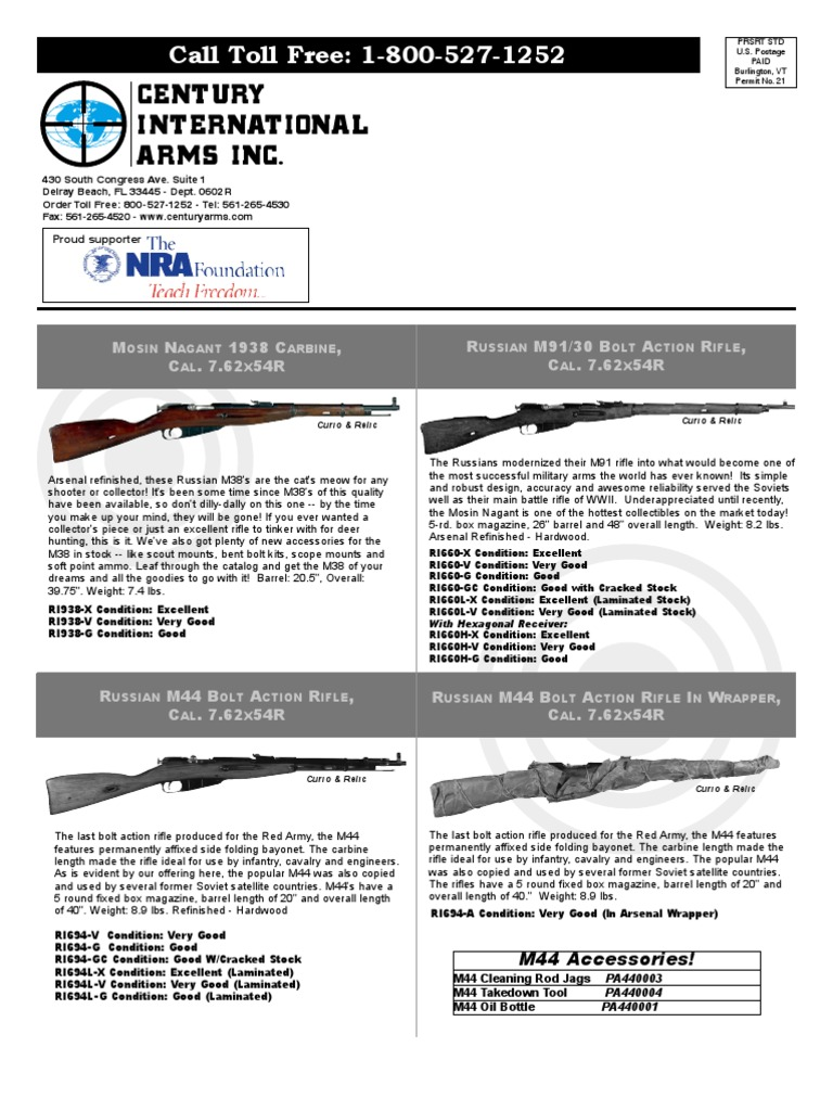 Cia Feb 06 Retail Web 1 Shotgun Revolver Mosin Nagant Monte Carlo Rifle Stock Gunsmith Cleaning Parts Diagram