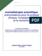 Aromathérapie scientifique ; préconisations pour la pratique clinique, l'enseignement et la recherche