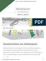 """Gewohnheiten am Arbeitsplatz _ """"Mediator"""" (INFP) Persönlichkeit _ 16Personalities"""