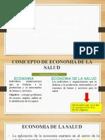 CONCEPTOS BASICOS DE LA ECONOMIA DE LA SALUD