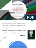 LOS TEMORES Y PREOCUPACIONES DEL TERAPEUTA