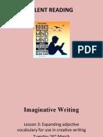 Imaginative Writing - lesson 3 expanding adjective vocabulary