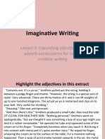 Imaginative Writing - adjectives and adverbs