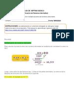 GUÍA DE  SÉPTIMO BÁSICO (multiplicación de números decimales) desde 18 al 22 de mayo