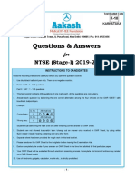 NTSE (S-I) 2019-20_MAT & SAT (Ques & Ans)_Karnataka
