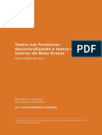 Descentralizando o teatro no interior de Mato Grosso
