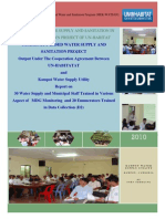 Report on Water Utility Staff Trained on MDG Monitoring & Data Collections (D2)