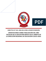 Directiva de Finalizacion Del Año Escolar 2020 DRE-CUSCO Ccesa007