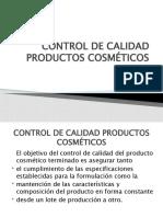 CONTROL DE CALIDAD PRODUCTOS COSMÉTICOS 2012