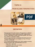 topic9_islamic perspective