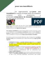 CARACTERISTICAS DE UN CORREDOR INMOBILIARIO