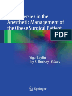 Controversies in the anesthetic management of the obese surgical patient. 2013.pdf