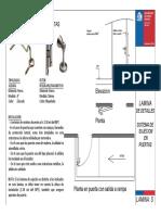 Lamina S Sistema de sujeción en puertas