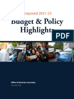 Governor Inslee - Proposed 2021-2023 Budget and Policy Highlights