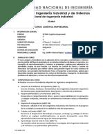 Sílabo - GP304X Logística Empresarial