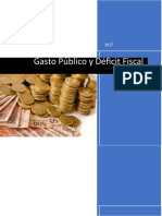 Gasto Público y Déficit Fiscal