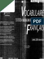 Vocabulaire Progressif du Francais_Niveau Intermediare
