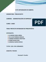 PROYECTO INTEGRADOR DE SABERES - PRESUPUESTO