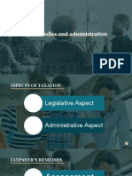 Tax remedies and administration