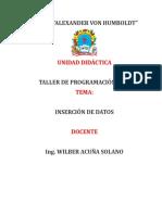 INSERCIÓN DE DATOS