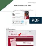 Pasos para descargar un artículo de la Revista Campus