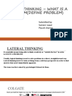 LATERAL THINKING – WHAT IS A PROBLEM(