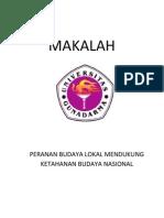 Makalah - Budaya lokal - nasional