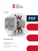 Ecosmart PB. Catalogue Catalogo. Medium Voltage SF6 gas insulated switch-disconnector for secondary distribution Up to 24kV 1250A 25kA