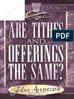 John Avanzini - Are Tithes and Offerings the Same
