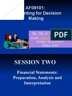 TOPIC 2 - AF09101- FINANCIAL STATEMENTS