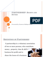 PARTNERSHIP- Rights and Duties
