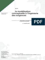 De la modélisation conceptuelle à l'ingénierie des exigences
