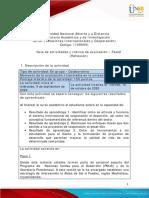 Guia de actividades y Rúbrica de evaluación - Unidad 2 - fase  2 - Reflexión