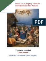 Vigilia de Navidad. Propio y Ordinario de la santa misa