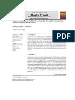 Analisis Struktur Pasar, Perilaku Perusahaan, dan Kinerja Perusahaan dalam Industri Telekomunikasi Indonesia
