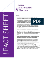 Facts on Contraception and Abortion