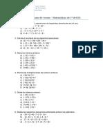 Ficha de repaso para septiembre 1º ESO