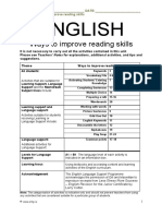 English Topic - Ways to improve reading skills
