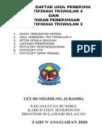 Surat Pengantar, Sptjm Serifikasi Sd Negeri No. 12 Ramba