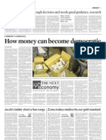 How Money Can Become Democratic - Editorial in the Cape Times