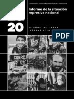 Informe de la situación represiva nacional 2020 - Correpi