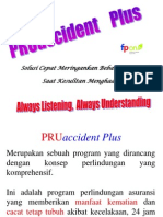 Presentasi PRUaccident Plus