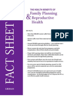 Fact Sheet- Health Benefits of Reproductive Health and Family Planning