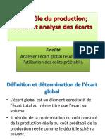 Calcule Et Analyse Des Écarts Sur Charges Directes