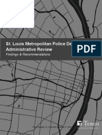 Final assessment report from Teneo Risk on the St. Louis Metropolitan Police Department