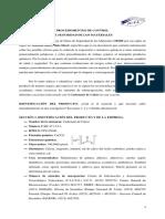 Procedimientos de Control de Seguridad de Los Materiales (ENSAYO) Carbonato de Calcio