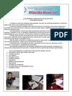 Relatório de Atividades complementares não presenciais Plácido Damiani