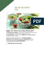 3 RECEITAS DE SALADAS DIFERENTES